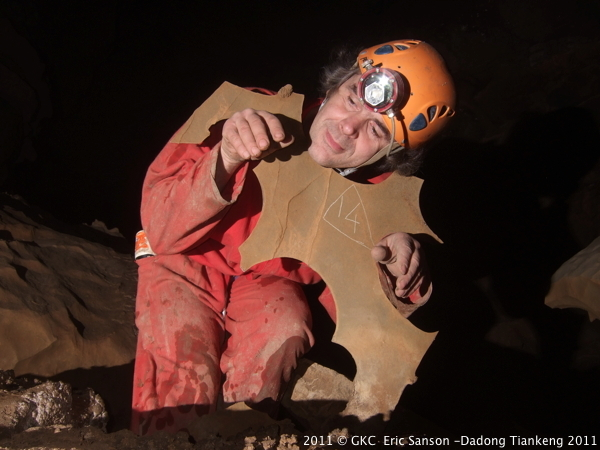 A petite comme à grande échelle les formes de corrosion sont omniprésente dans la grotte de Liangfengdong 凉风洞 (Tangbian 塘边 Pingtang 平塘 Guizhou)